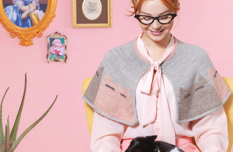 Creepy Catty Capelet from Cat Knits by Marna Gilligan: Yarn pack only