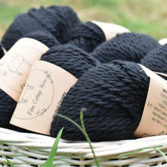 Whitfell Chunky 100% baby alpaca in Coal (500g pack)