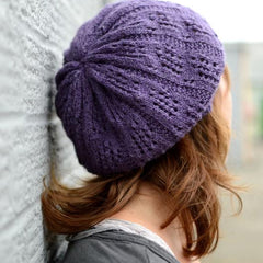 Knitted slouchy hat kit: Baudot