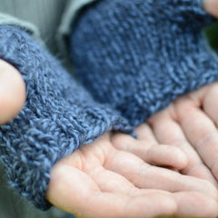 Langrigg: Chunky knitted fingerless mitts kit
