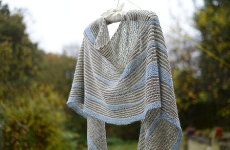Masgot by Justyna Lorkowska: knitted shawl add-on kit