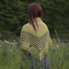Swale knitted hap shawl kit