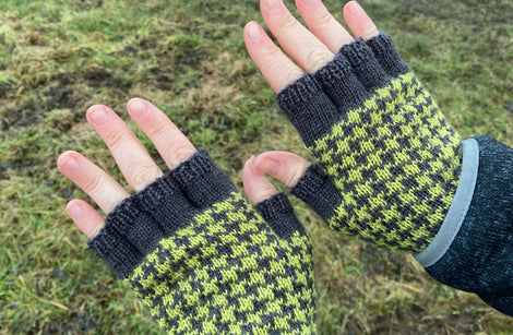 Rokeby by Victoria Magnus: fingerless mitts knitting kit