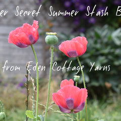 Poppies overlaid with text - Super Secret Summer Stash Box from ECY