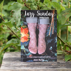 Lazy Sunday Socks by Jane Burns A5 print book