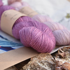 Royal Mile shawl knitting Kit - Clematis / Antique Rose