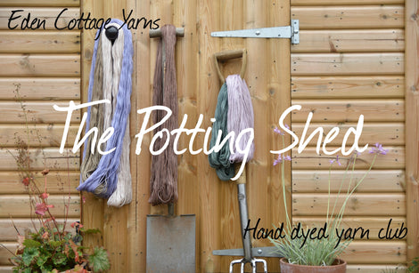 The Potting Shed Hand Dyed Yarn Club Subscription - February to April/July