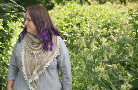 Laverton Shawl by Victoria Magnus: A5 Printed Pattern