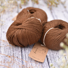 Askham 4ply baby alpaca/silk in Walnut