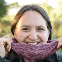 Deco Swirl by Louise Zass-Bangham: knitted cowl kit