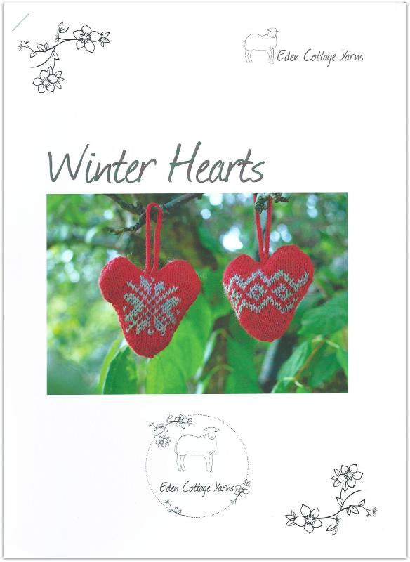 Winter Hearts: A4 Printed Pattern