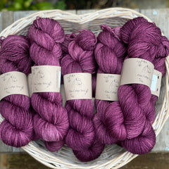 Rich purple yarn