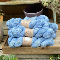 Bright blue yarn
