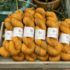 Orangey brown yarn