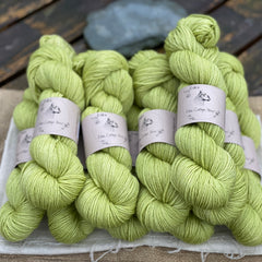 Zingy green yarn