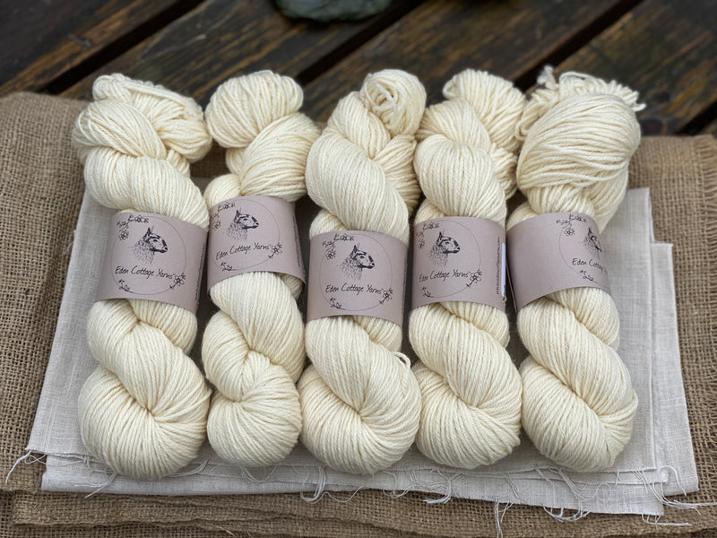 Natural cream yarn