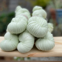 Pale green yarn