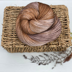 Variegated brown yarn