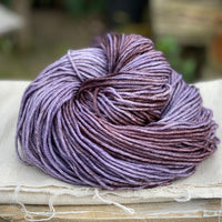 Variegated purple and brown yarn