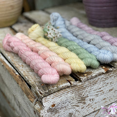 Brimham High Twist Mini Skein Bundle - Pastel Rainbow