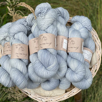 Pale blue yarn
