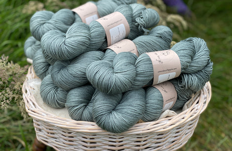 Blue-green yarn