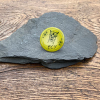 ECY pin badge