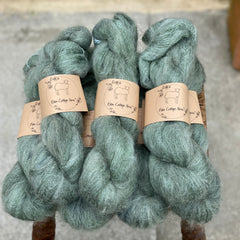 Dark green fluffy yarn