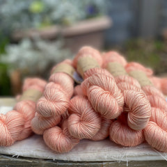 Peachy orange yarn