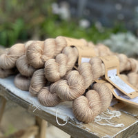 Light brown yarn