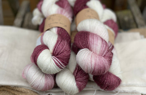 Rosedale 4ply in Black Magic Rose Ombre (Dyelot 280520)