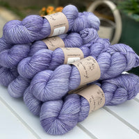 Bluey purple yarn