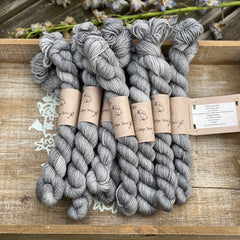 Grey sparkly yarn