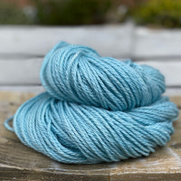 Soft blue yarn