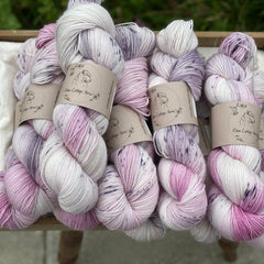 Variegated pink and purple yarn