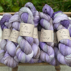 Variegated purple yarn