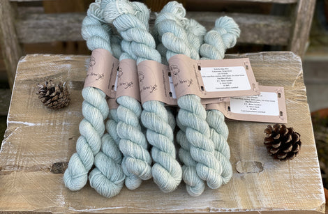 Pale blue-green yarn