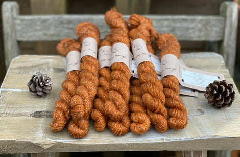 Rich brown yarn