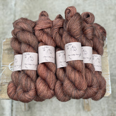 Dark brown yarn