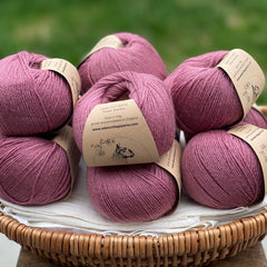 Milburn 4ply™ British Bluefaced Leicester/Silk in Bramble; 50g ball