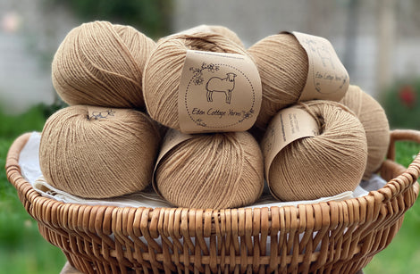 Golden brown yarn