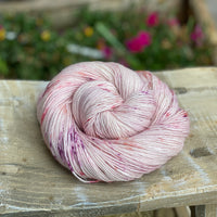 Soft pink yarn with pink and purple dapples