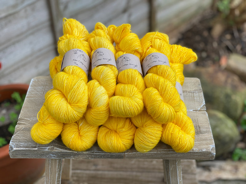 Zingy yellow yarn