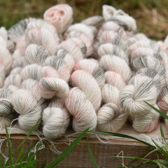 Carlisle Fingering Mini Skein in Foggy Daybreak (Dyelot 160120)
