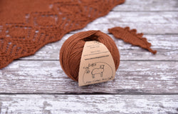 Milburn 4ply British Bluefaced Leicester/Silk in Rust; 50g ball