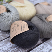 Milburn 4ply British Bluefaced Leicester/Silk in Charcoal; 500g pack
