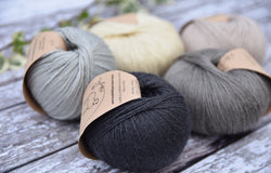 Milburn 4ply British Bluefaced Leicester/Silk in Charcoal; 50g ball
