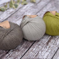 Milburn 4ply British Bluefaced Leicester/Silk in Fern; 50g ball
