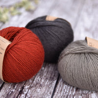 Milburn 4ply™ British Bluefaced Leicester/Silk in Dogwood; 500g pack