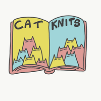 Cat Knits Book Pin Badge